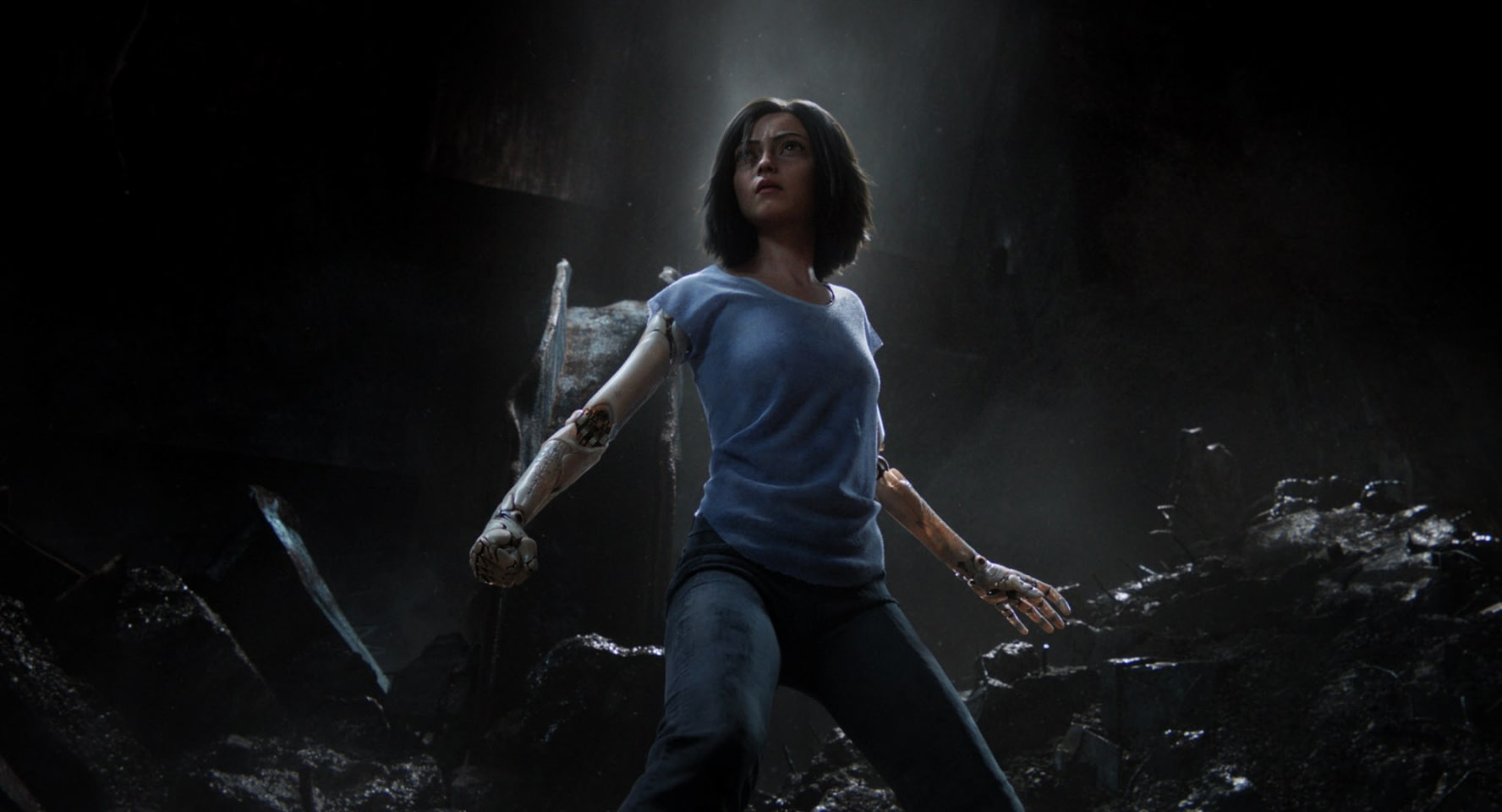 Rosa Salazar as Alita in 'Alita: Battle Angel'