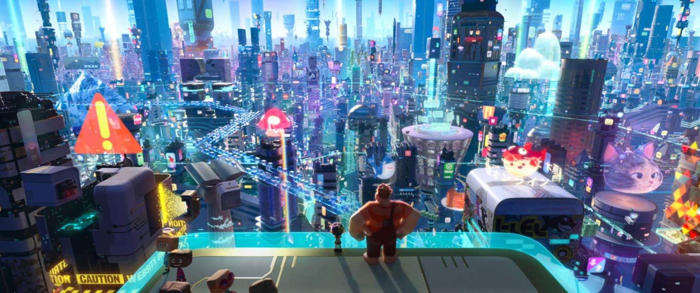 Internet City in 'Ralph Breaks the Internet'