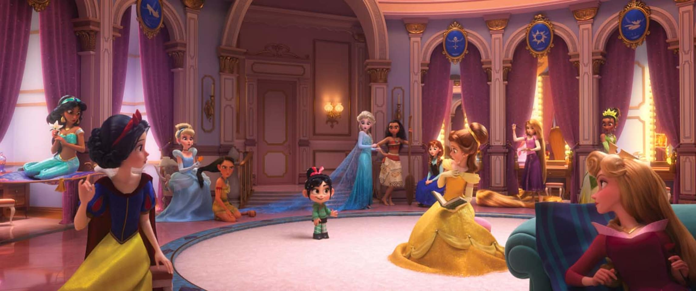 Vanellope meets the Disney princesses
