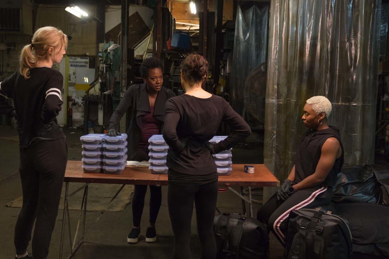 L-R: Elizabeth Debicki, Viola Davis, Michelle Rodriguez and Cynthia Erivo in Steve McQueen's 'Widows' (Credit: 20th Century Fox)
