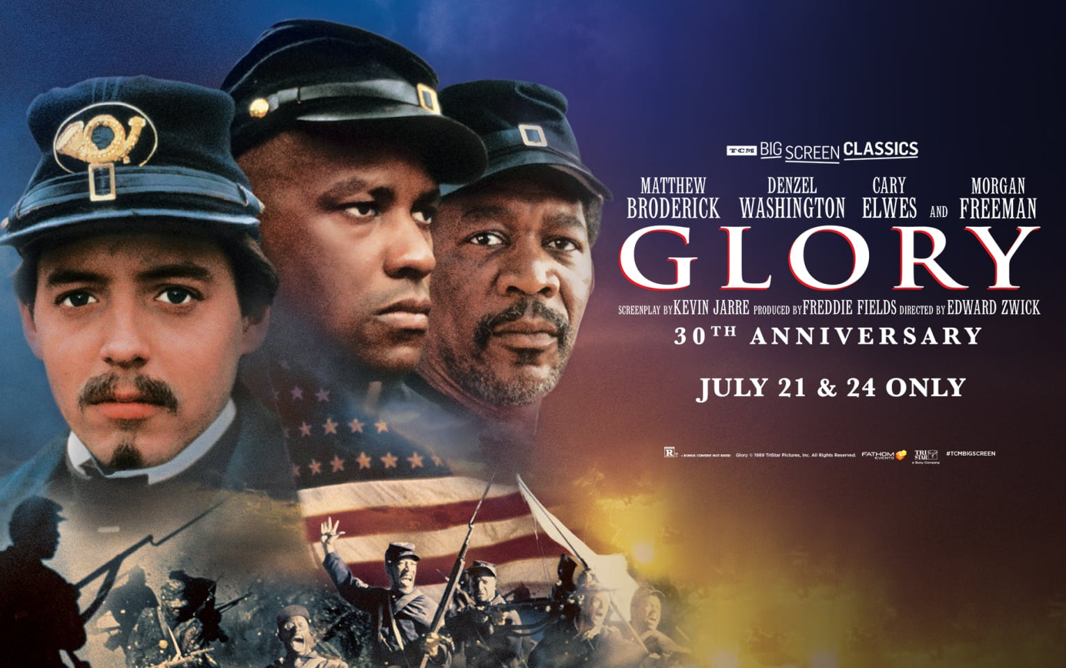 Glory 30th Anniversary (1989) presented by TCM Poster 1