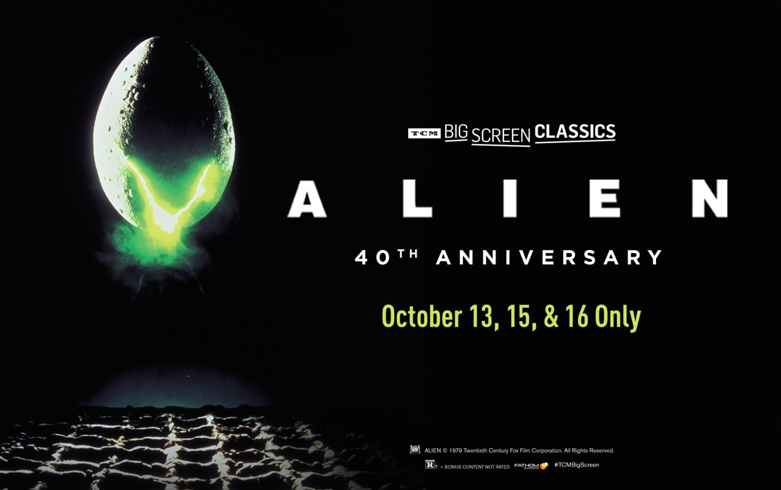 Alien 40th Anniversary (1979) presented by TCM Poster 1