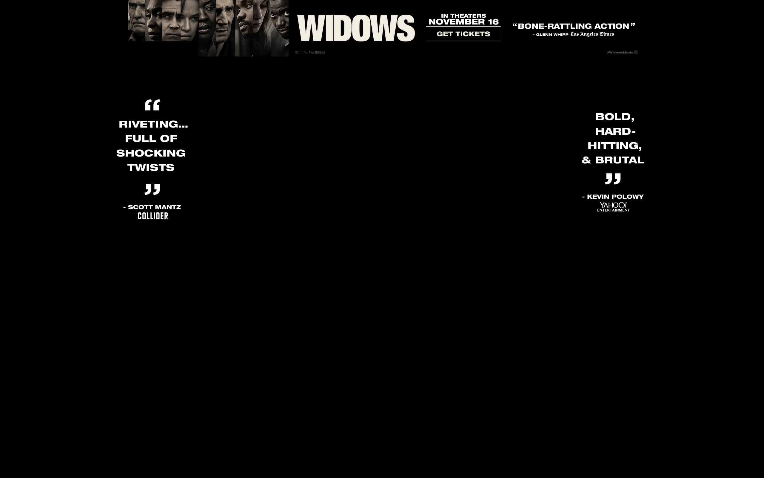Widows - Movie Tickets and Showtimes - Opens this weekend at Regal.