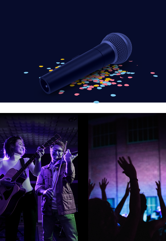 microphone, musicians, concert